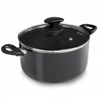 Tower Ceramic Casserole Pan Black 24cm