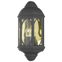 Dar Tenby Wall Light Black Ip43