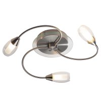 Dar Tugel 3 Light Satin Chrome Complete with Double Envelope Glass