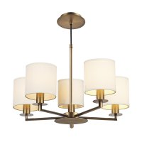 Dar Tyler 5 Light Height Adjustable Pendant Bronze - Fitting Only