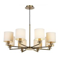 Dar Tyler 8 Light Dual Mount Pendant Bronze - Fitting Only