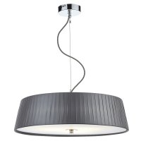 Dar Wheel 3 Light Slimline 570mm Pendant Grey