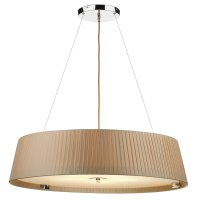 Dar Wheel 5 Light slimline 800mm Pendant Taupe