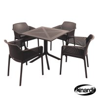 Nardi High Range Clip Table with 4 Net Chair Set Anthracite