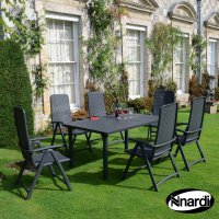 Nardi High Range Libeccio Table with 6 Darsena Chair Set Anthracite