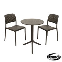 Nardi High Range Step Table with 2 Bistrot Chair Set Anthracite