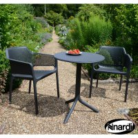 Nardi High Range Step Table with 2 Net Chair Set Anthracite