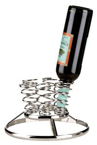 Premier Housewares 6 Bottle Chrome Wire Inverted Wine Rack