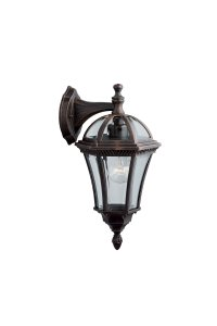 Searchlight Capri 1 Light Outdoor Wall Bracket - Rustic Brown