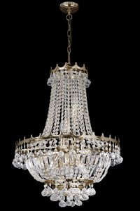 Searchlight Versailles 9 Light Gold Plated 52cm Crystal Chandelier