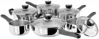 Judge Vista 18/10 Stainless Steel 6 Piece Saucepan Set