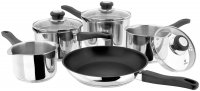 Judge Vista 18/10 Stainless Steel Draining 5 Pce Saucepan Set