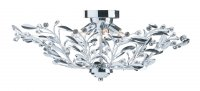 Searchlight Lima 6 Light Chrome Semi Flush Ceiling Light with Crystal Detail