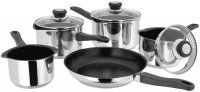 Judge Vista 18/10 Stainless Steel Draining Non-Stick 5 Piece Saucepan Set