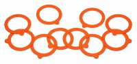 Home Made Silicone Preserving Jar Rings, Pack of 10