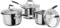 Stellar Induction Draining 3 Piece Saucepan Set