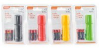 Kingavon 9 LED Soft Touch Torch with Batteries - Assorted