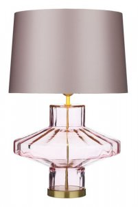 David Hunt Vienna Table Lamp Pink Glass Base Only