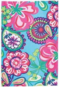 KitchenCraft Bright Floral Tea Towel, Set of 2