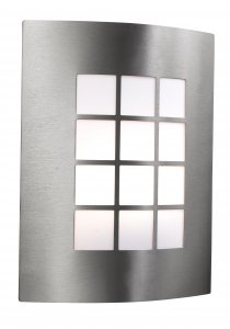 Searchlight 1 Light Stainless Steel Outdoor Wall Bracket