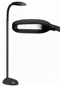 Kingavon Natural Light Floor Lamp Black