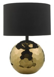 Dar Kolton Table Lamp Gold Ceramic With Shade