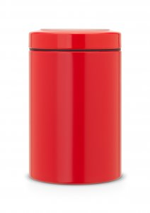 Brabantia 1.4 Litre Window Lid Canister in Passion Red