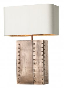 David Hunt Riveted Rectangular Table Lamp Copper Base Only