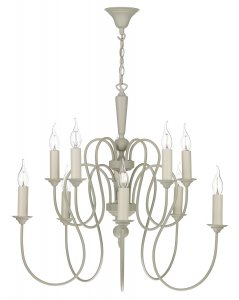David Hunt Therese 10 Light Chandelier French Cream