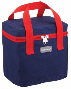 KitchenCraft Navy & Red Lunch / Snack Cool Bag, 5 Litres