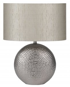 Pacific Lifestyle Mabel Silver Textured Ceramic Table Lamp