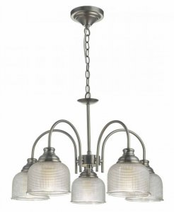 Dar Tack 5 Light Pendant Antique Chrome