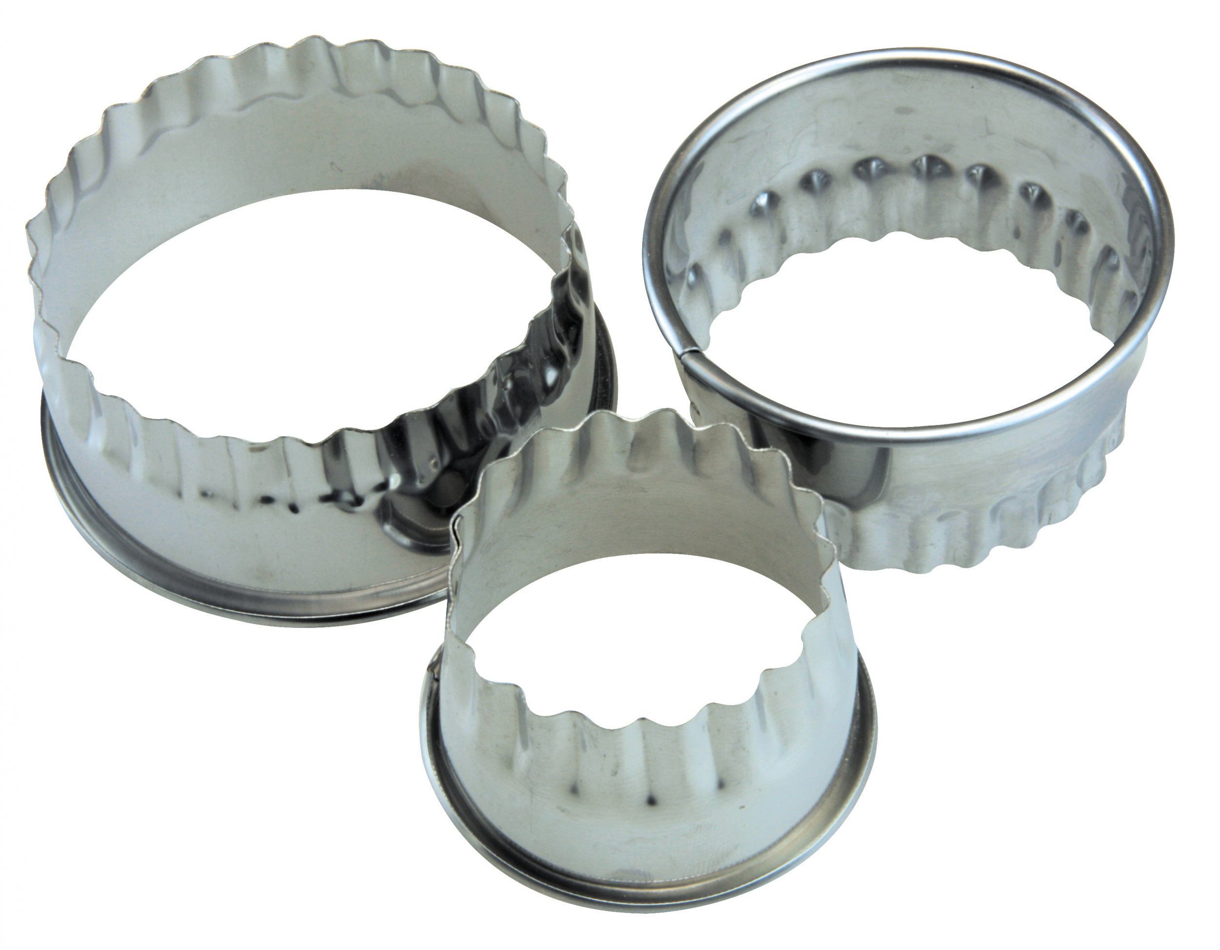 Apollo Housewares Round Biscuit Cutter Set Of 3 At