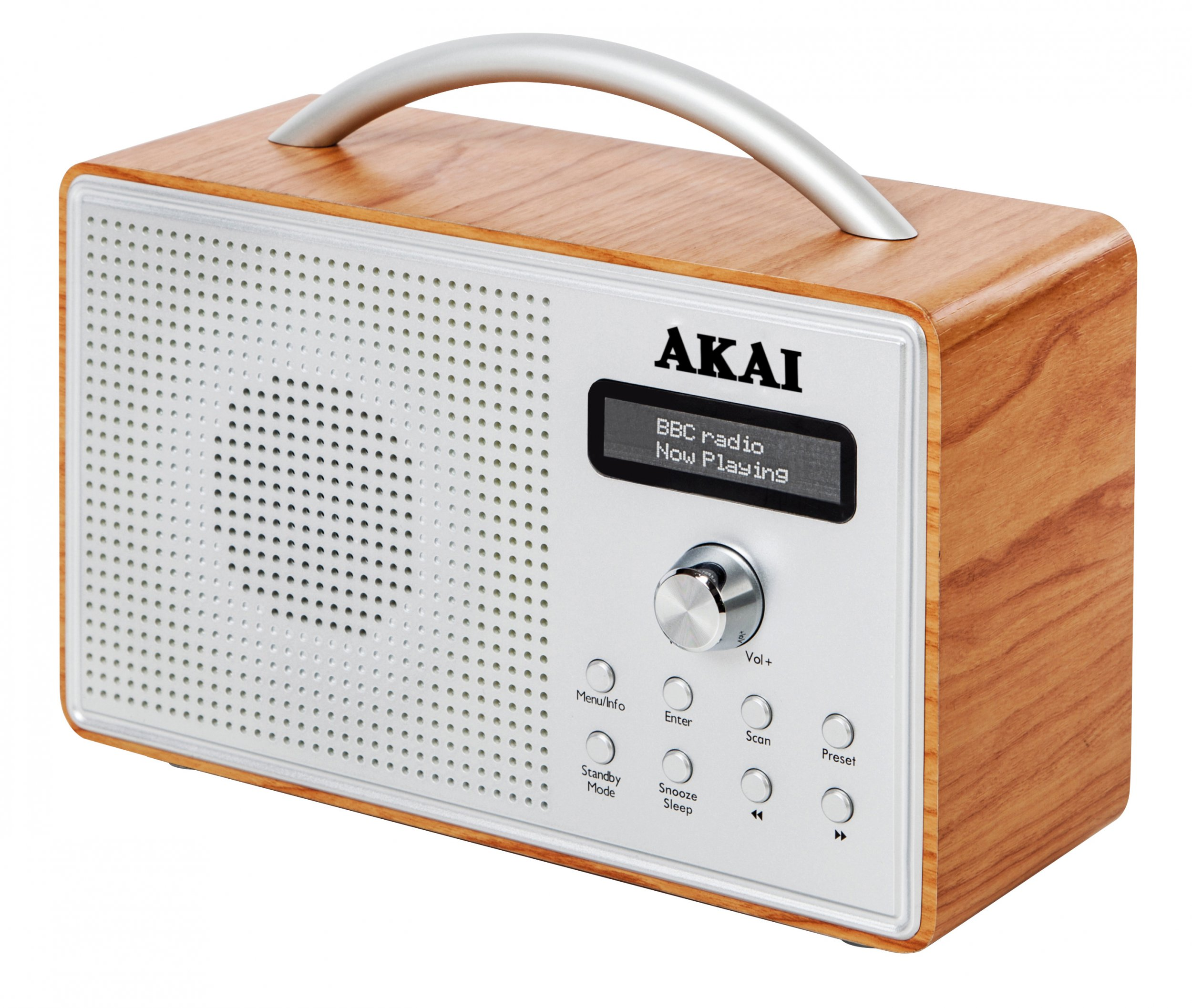 Akai Wood Dab Radio Oak With Lcd At Barnitts Online Store