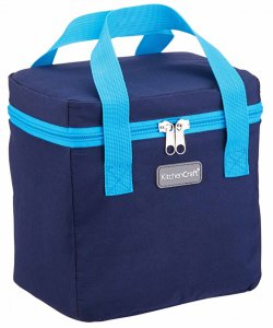 KitchenCraft Navy & Turquoise Lunch / Snack Cool Bag, 5 Litres