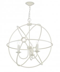 David Hunt Orb 3 Light Cream Handcrafted Pendant