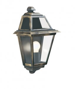 Searchlight New Orleans Black / Gold Outdoor Wall Light