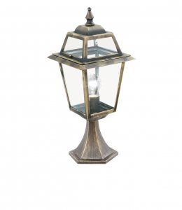 Searchlight New Orleans Black / Gold Small Outdoor Post