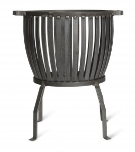 Garden Trading Barrington Fire Pit, Small - Raw Metal