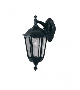 Searchlight Bel Aire Outdoor 1 Light Wall Downlighter Black