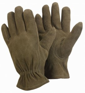 Briers Washable Gardener Leather Gloves Medium Olive