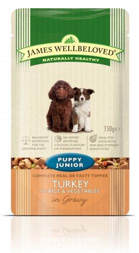 James Wellbeloved Turkey Puppy Pouch 150g