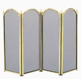Manor Reproductions Dynasty 4 Fold - Brass - 64x84