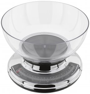 Judge Kitchen Scale 5kg with Chrome Body & Clear Bowl
