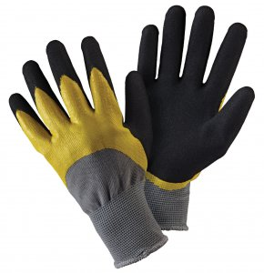 Briers Double Dip Gardening Gloves Large BlackYellow at