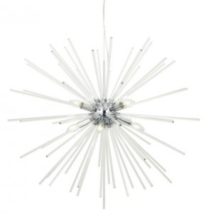 Dar Keyla 8 Light Pendant Crystal & Polished Chrome