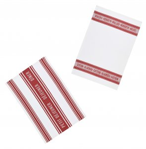 KitchenCraft Jacquard Tea Towels Dark Red Pack Of 2