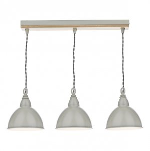Dar Blyton 3 Light Bar Pendant Complete with Painted Shades