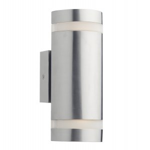 Dar Wessex 2 Light Cylinder Stainless Steel Wall Bracket LED IP44