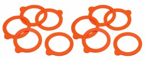 Home Made Silicone Jar Rings, Pack of 10